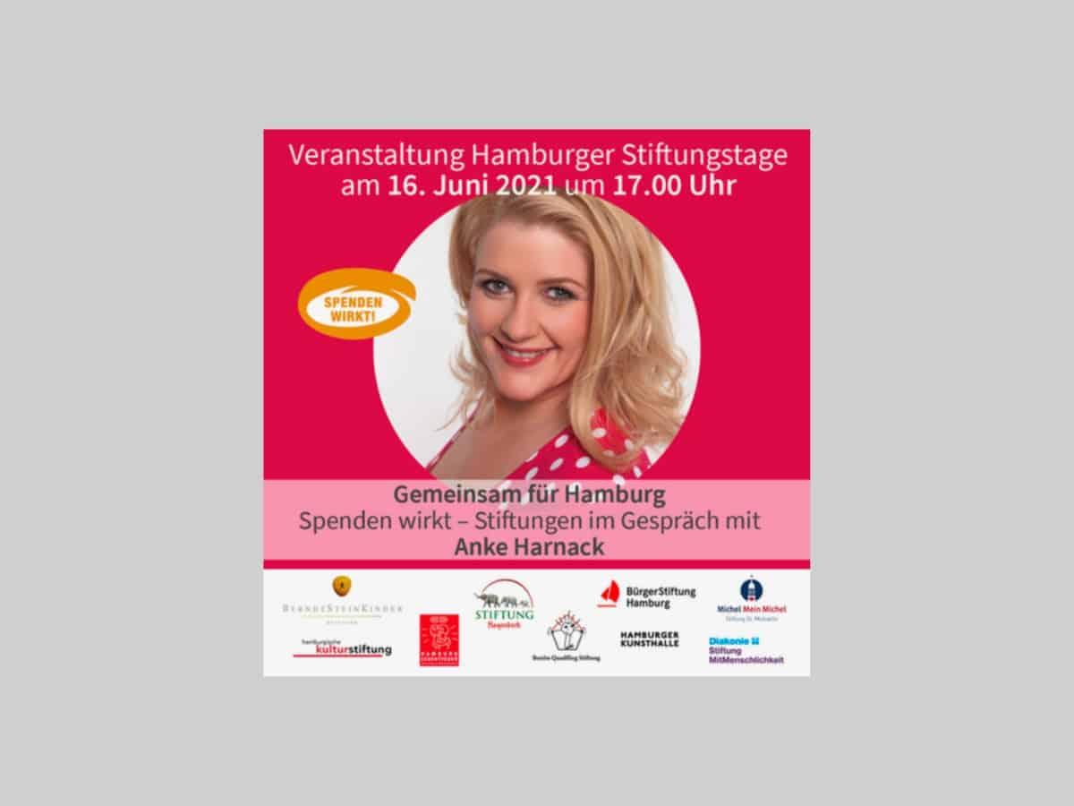 Plakat Hamburger Stiftungstage am 16.02.2021