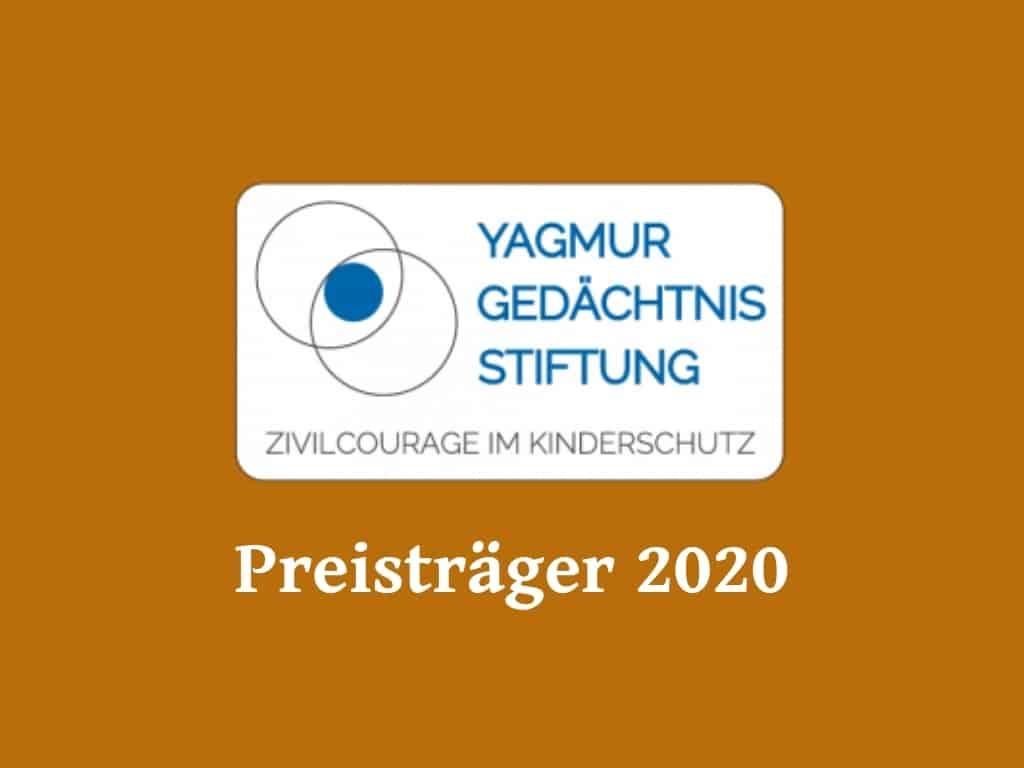 Wir sind Preisträger der Yagmur Gedächtnis Stiftung 2020!